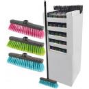 grossiste Nettoyage: Broom -Display  avec des tiges, 120 parties, poigné