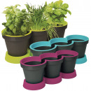 Herb Pot, 2-piece, 15 x 40 x 15 cm,