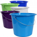 wholesale Cleaning: Bucket, household  bucket, 10 liters, with metal br
