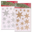 Stickers / window  screen star, 2-fold sorted,