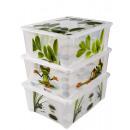 wholesale Houshold & Kitchen: Box with lid, 14 x 38 x 27 cm, 10 L,