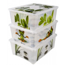 wholesale Houshold & Kitchen: Box with lid, 16 x  43 x 34 cm, about 17 L,
