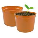 groothandel Bloemenpotten & vazen: Arnica plantenpot,  d = 19cm, hoogte 15cm, terracot
