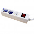 wholesale Electrical Installation: Power strip with  switch 3, white, cable: 1.4 m