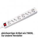 wholesale Garden & DIY store: 8-plug strip with  switch, white, cable: 1.5 m
