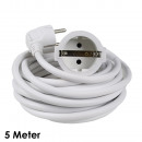 mayorista Instalacion electrica: Cable de extensión de 5 m, blanco