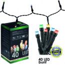 grossiste Chaines de lumieres: Guirlande  lumineuse LED 40  Multicolore pour ...