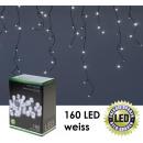 groothandel Lichtketting: LED String Lights,  160 LED Eisregenkette, Wit,