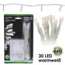 Lichterkette LED  _30er, Warmweiß, Batterie, Innen