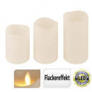Candle LED, 3 pieces, each 1 LED, Warm White,
