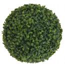 Großhandel Kunstblumen: Buchsbaumkugel, d  = 27 cm, Grün, Kunststoff