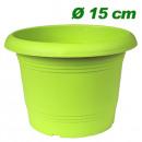 Großhandel Pflanzen & Töpfe: Pflanzkübel  Zylinder, d= 15 cm, Grün