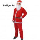 Costume Santa  Claus / Santa Claus, 5-Piece Set,