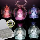 Ball incl. LED lighting, glass, 6 x 6 x 7,5 cm,