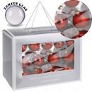 groothandel Glazen: Kerstballen, glas,  26er Set, 3 maten, rood,