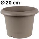 Grosshandel Pflanzen & Töpfe: Pflanzkübel  Zylinder, d= 20 cm, Taupe