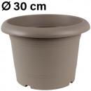 Grosshandel Pflanzen & Töpfe: Pflanzkübel  Zylinder, d= 30 cm, Taupe