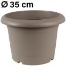 Grosshandel Pflanzen & Töpfe: Pflanzkübel  Zylinder, d= 35 cm, Taupe
