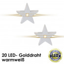 grossiste Chaines de lumieres: guirlande  lumineuse LED, 20  MINI, blanc chaud, ...
