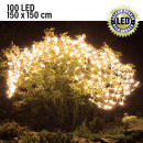 Großhandel Lichterketten: Lichternetz LED  100 LED, Warmweiß, 150x150cm Timer
