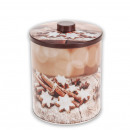 wholesale Houshold & Kitchen: Candy Jar  cinnamon, round, 14 x 14 x 16 cm,