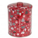 wholesale Houshold & Kitchen: Candy Jar HAPPY  CHRISTMAS, round, 14x14x16 cm,