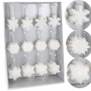 Christmas tree  ornaments, 3 assorted, white
