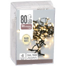groothandel Lichtketting: Christmas Lights  LED-80, warm wit, timer / x