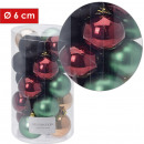 Christmas tree balls, plastic, d = 6 cm, color sor