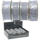 groothandel Stationery & Gifts: Lint, zilver, 270  x 2,5 cm, 28er Display ,