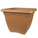 Planter QUADRA, 23 x 23 cm, terracotta,