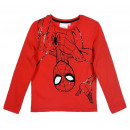 Red long-sleeved blouse for boy Spider-