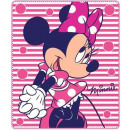coperta in pile Minnie Mouse.