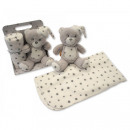 Set: teddy bear and blancket for children. Sung se
