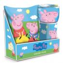 Großhandel Lizenzartikel: Set: Decke + Kissen Peppa Pig .