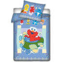 wholesale Bed sheets and blankets: Sesame Street, bed linen Elmo plane 100x135 cm.