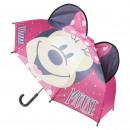 wholesale Umbrellas: mouse Minnie 3D manual umbrella, pink