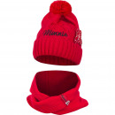 Mouse red hat and snood set Minnie