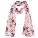 Scarf with mouse patterns Minnie