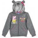 Mädchen Hoodie Peppa Pig grau