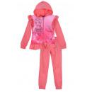 Großhandel Kinder- und Babybekleidung: Rosa Trainingsanzug für Mädchen, ...