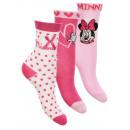 Großhandel Strümpfe & Socken: 3er Pack Socken für Mädchen rosa Minn Mouse