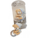 wholesale Baby Toys: SNUGGLE BABY Teddy bear with ratchet Blue for mute