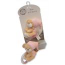 wholesale Baby Toys: Teddy bear with pink ratchet SNUGGLE BABY