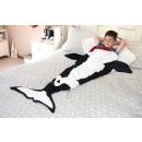 Großhandel Bettwäsche & Matratzen:-Snug-Teppich  Killer Whale Tail Blanket