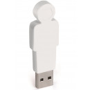 groothandel Opslagmedia: E-my 4 GB USB Stick Vader - Wit