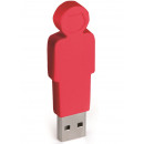 groothandel Opslagmedia: E-my 4 GB USB Stick Vader - Rood