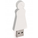 groothandel Opslagmedia: E-my 4 GB USB Stick Moeder - Wit