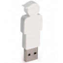 groothandel Opslagmedia: E-my 4 GB USB Stick Zoon - Wit