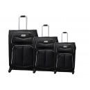 Großhandel Koffer & Trolleys: Reisekoffer 3er 110-3 schwarz